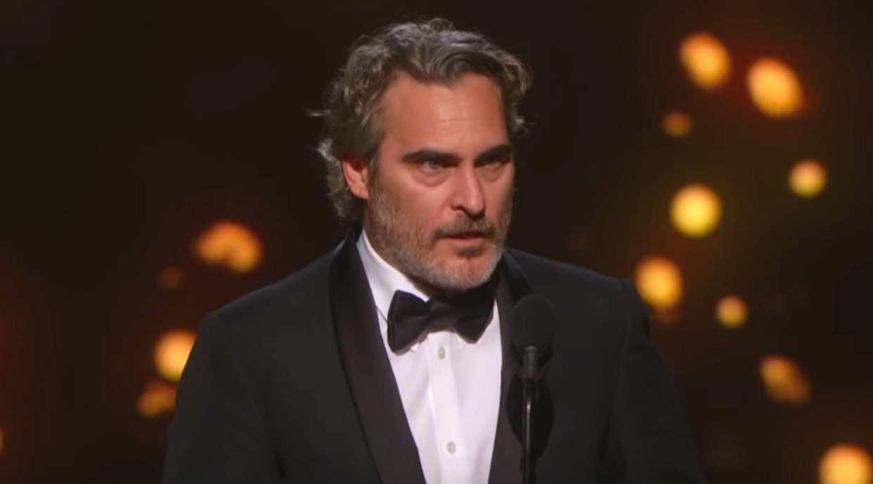奥斯卡最佳男主《小丑》获奖感言